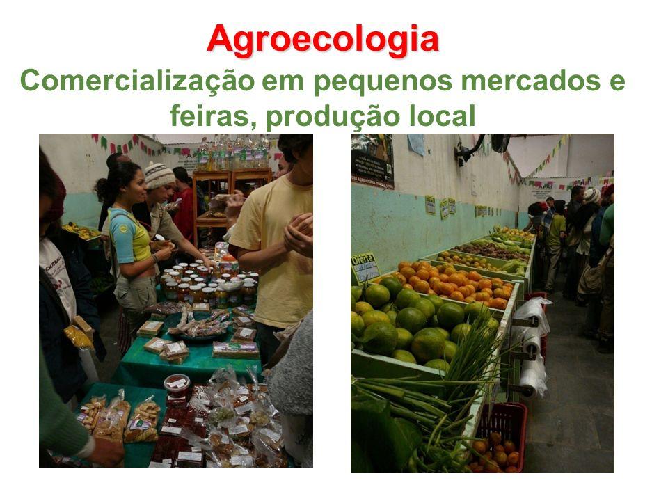 Agroecologia Comercialização em pequenos mercados e feiras, produção local