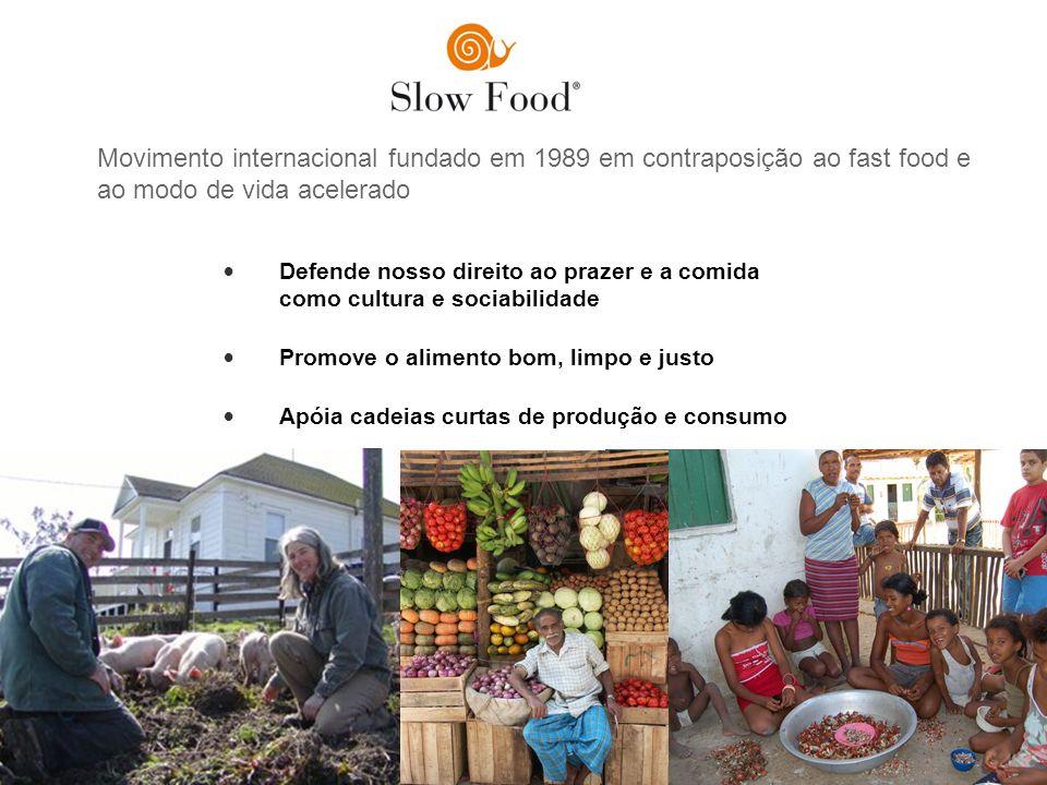 Defende nosso direito ao prazer e a comida como cultura e sociabilidade Promove o alimento bom, limpo e justo Apóia cadeias curtas de produção e consu