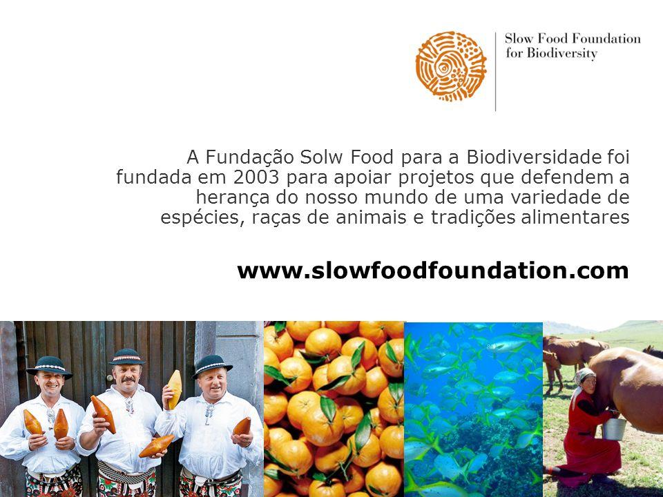 A Fundação Solw Food para a Biodiversidade foi fundada em 2003 para apoiar projetos que defendem a herança do nosso mundo de uma variedade de espécies