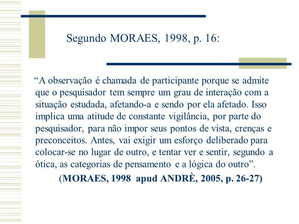 Segundo MORAES, 1998, p.