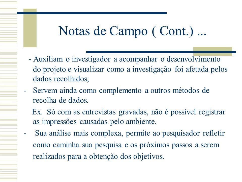 Notas de Campo ( Cont.)...