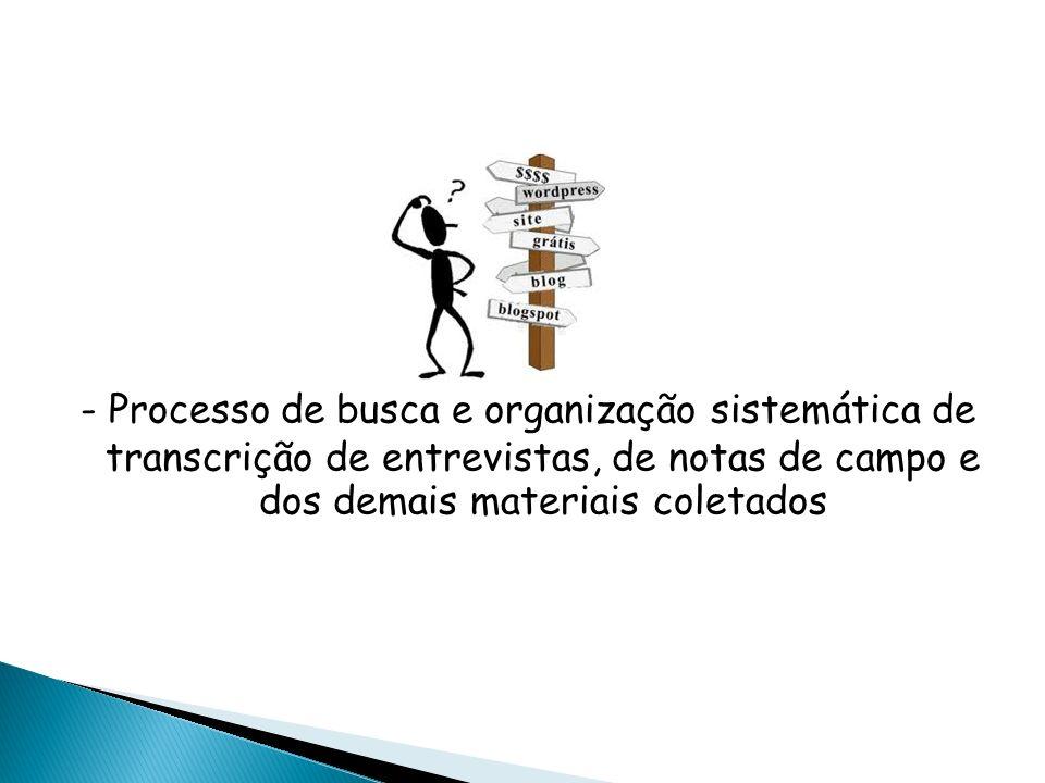 OBJETIVO Aumentar a própria compreensão de todos os materiais coletados; Permitir a apresentação dessas informações aos outros.