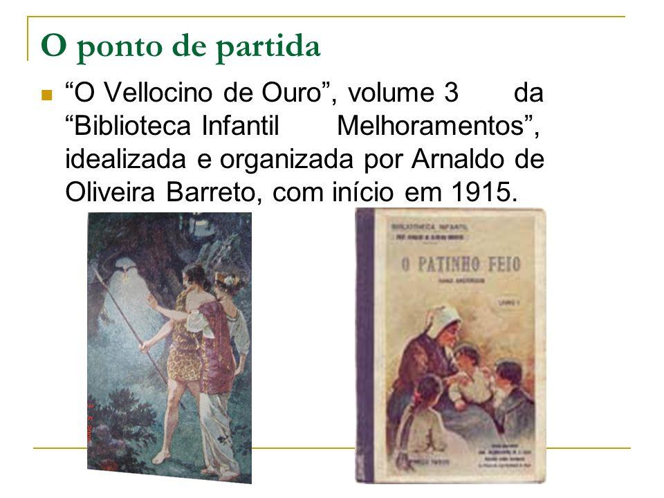 O ponto de partida O Vellocino de Ouro, volume 3 da Biblioteca Infantil Melhoramentos, idealizada e organizada por Arnaldo de Oliveira Barreto, com in