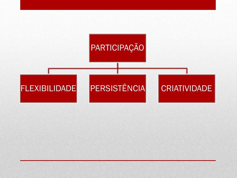PARTICIPAÇÃO FLEXIBILIDADEPERSISTÊNCIACRIATIVIDADE