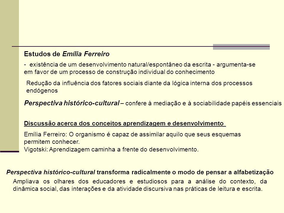 Perspectiva histórico-cultural – confere à mediação e à sociabilidade papéis essenciais Discussão acerca dos conceitos aprendizagem e desenvolvimento