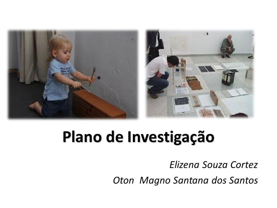 Plano de Investigação Elizena Souza Cortez Oton Magno Santana dos Santos