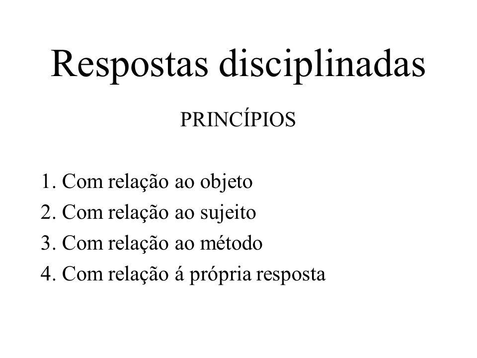 Respostas disciplinadas PRINCÍPIOS 1. Com relação ao objeto 2.
