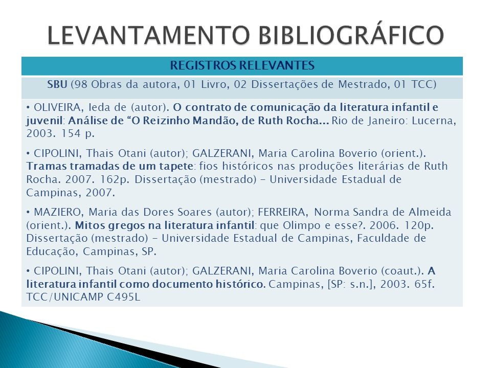 REGISTROS RELEVANTES SBU (98 Obras da autora, 01 Livro, 02 Dissertações de Mestrado, 01 TCC) OLIVEIRA, Ieda de (autor). O contrato de comunicação da l