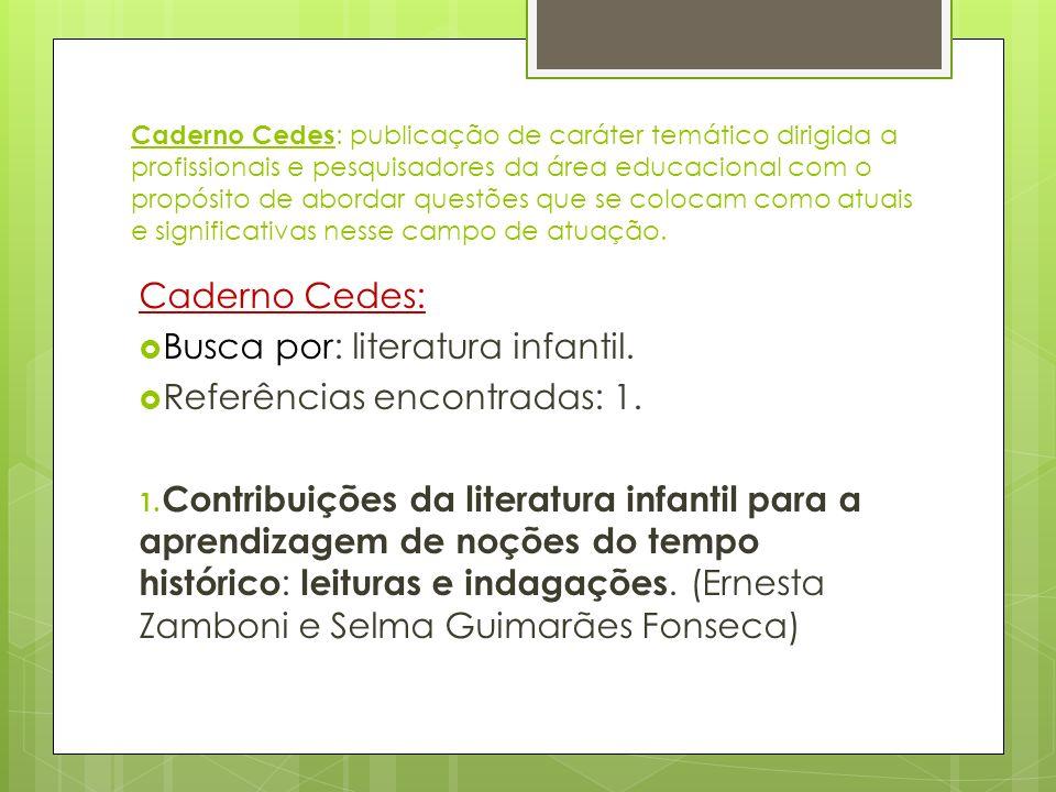 Caderno Cedes : publicação de caráter temático dirigida a profissionais e pesquisadores da área educacional com o propósito de abordar questões que se