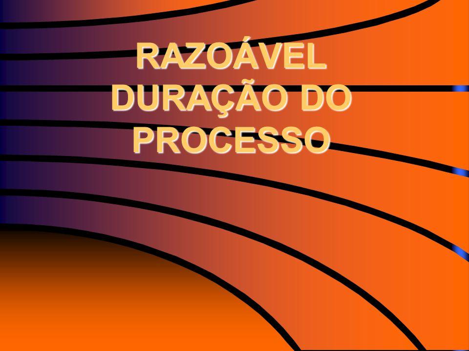 RAZOÁVEL DURAÇÃO DO PROCESSO RAZOÁVEL DURAÇÃO DO PROCESSO