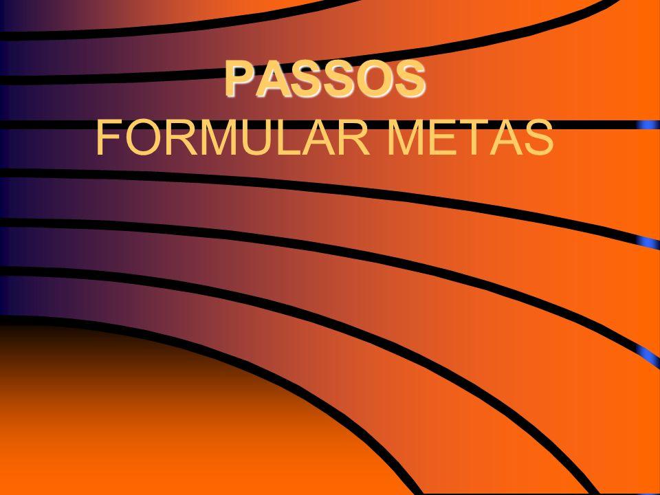PASSOS PASSOS FORMULAR METAS