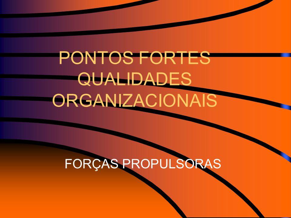 PONTOS FORTES QUALIDADES ORGANIZACIONAIS FORÇAS PROPULSORAS