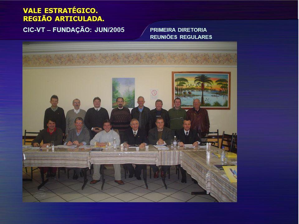 VALE ESTRATÉGICO. CIC-VT – FUNDAÇÃO: JUN/2005 REGIÃO ARTICULADA. PRIMEIRA DIRETORIA REUNIÕES REGULARES