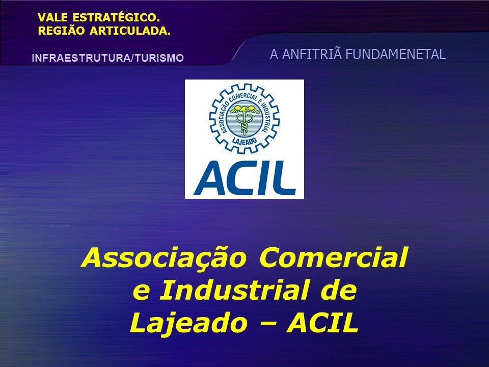 VALE ESTRATÉGICO. REGIÃO ARTICULADA. INFRAESTRUTURA/TURISMO Associação Comercial e Industrial de Lajeado – ACIL A ANFITRIÃ FUNDAMENETAL