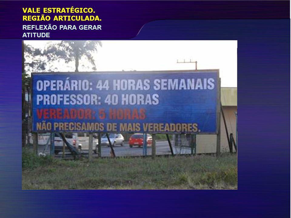 VALE ESTRATÉGICO. REFLEXÃO PARA GERAR ATITUDE REGIÃO ARTICULADA.