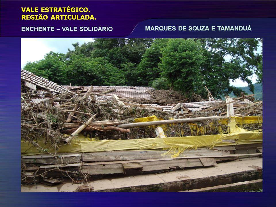 VALE ESTRATÉGICO. REGIÃO ARTICULADA. ENCHENTE – VALE SOLIDÁRIO MARQUES DE SOUZA E TAMANDUÁ