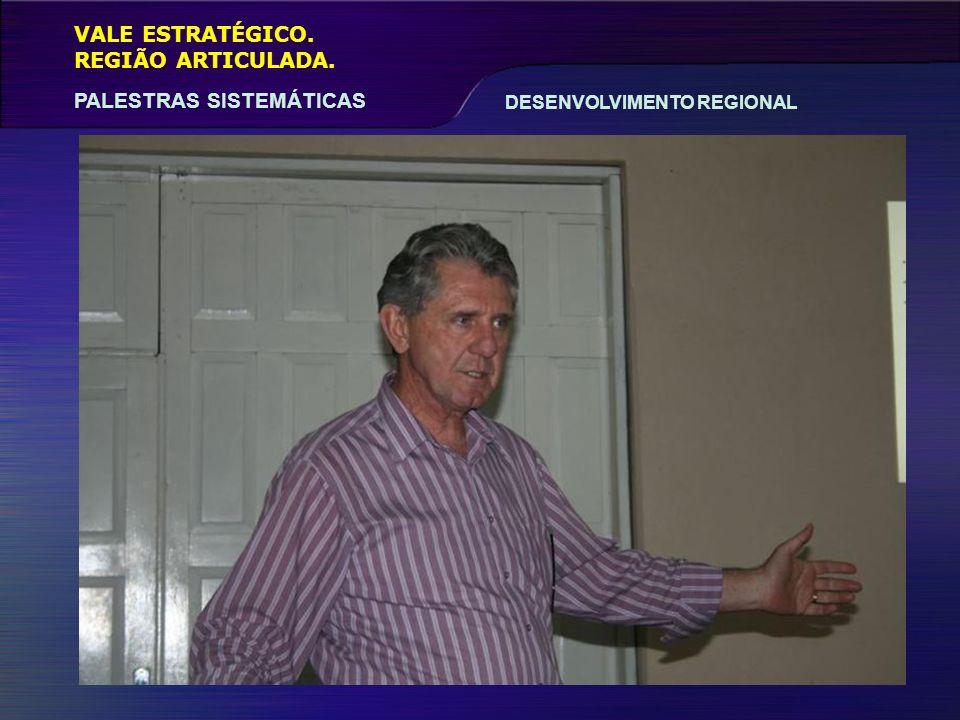 VALE ESTRATÉGICO. REGIÃO ARTICULADA. PALESTRAS SISTEMÁTICAS DESENVOLVIMENTO REGIONAL