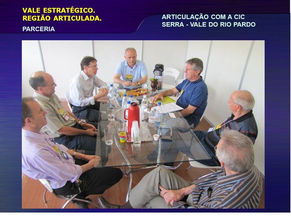 VALE ESTRATÉGICO. PARCERIA REGIÃO ARTICULADA. ARTICULAÇÃO COM A CIC SERRA - VALE DO RIO PARDO