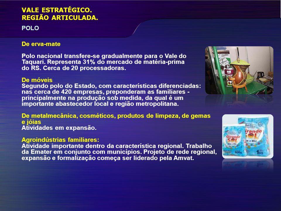 VALE ESTRATÉGICO.SETOR TERCIÁRIO REGIÃO ARTICULADA.