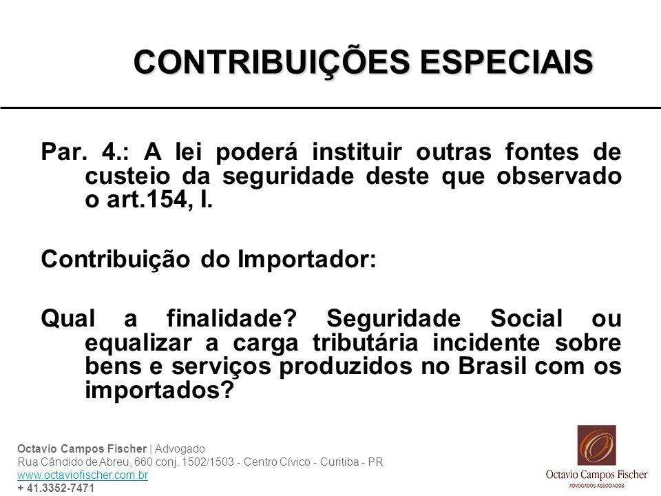 CONTRIBUIÇÕES ESPECIAIS Par.
