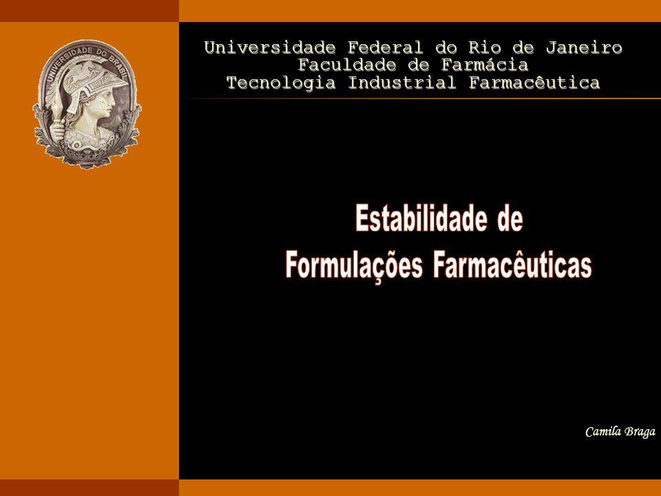 TIF 2006/1 ESTABILIDADE DE FORMULAÇÕES FARMACÊUTICAS12 PE: amolece com óleos, permeabilidade a gases e vapores PVC: fica mais rígido e duro com a extração do seu plastificante com solventes hidrocarbonados Interações (2) INCOMPATIBILIDADE QUÍMICA interação fármaco-embalagem Interação fármaco- embalagem Estágios que devem ser monitorados: - Estudos de pré-formulação - Seleção de excipientes - Desenvolvimento do processo - Avaliação de embalagem - Método analítico - seletivo e sensível - Recomendações apropriadas de condições de estocagem
