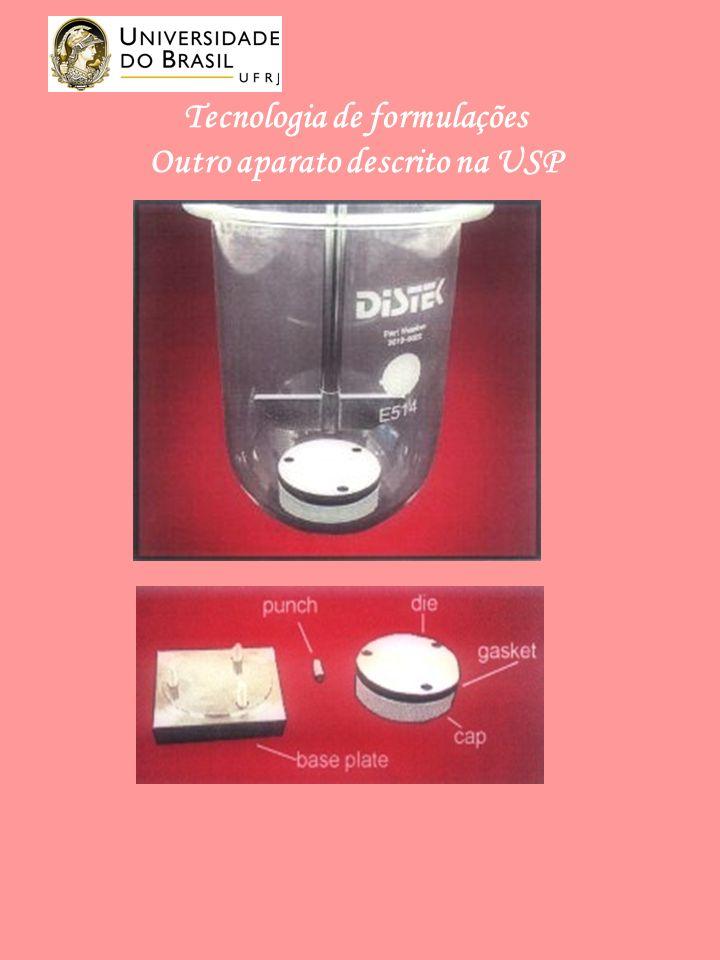 Tecnologia de formulações Outro aparato descrito na USP