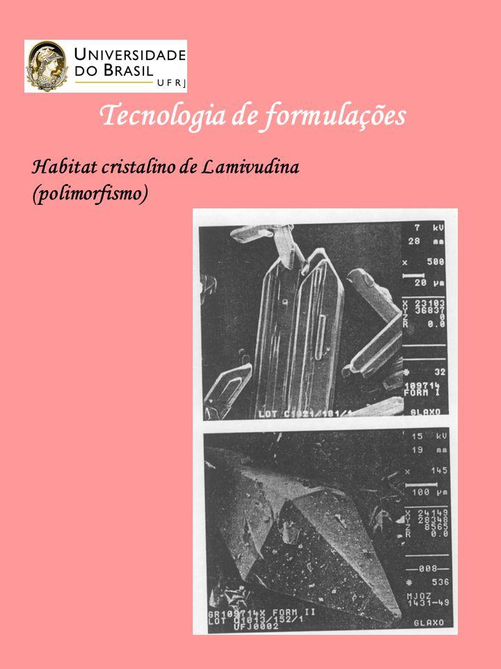 Tecnologia de formulações Habitat cristalino de Lamivudina (polimorfismo)