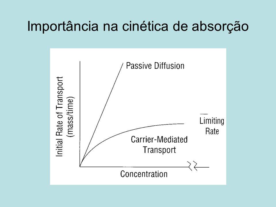 Importância na cinética de absorção