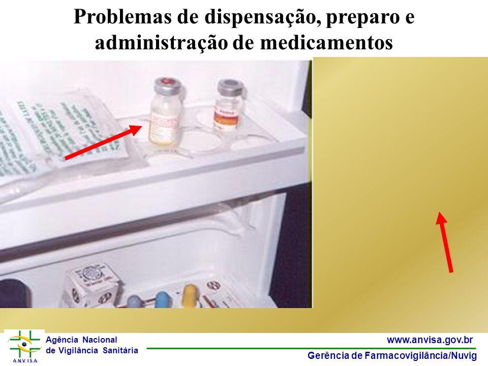 15 www.anvisa.gov.br Gerência de Farmacovigilância/Nuvig Agência Nacional de Vigilância Sanitária Problemas de dispensação, preparo e administração de