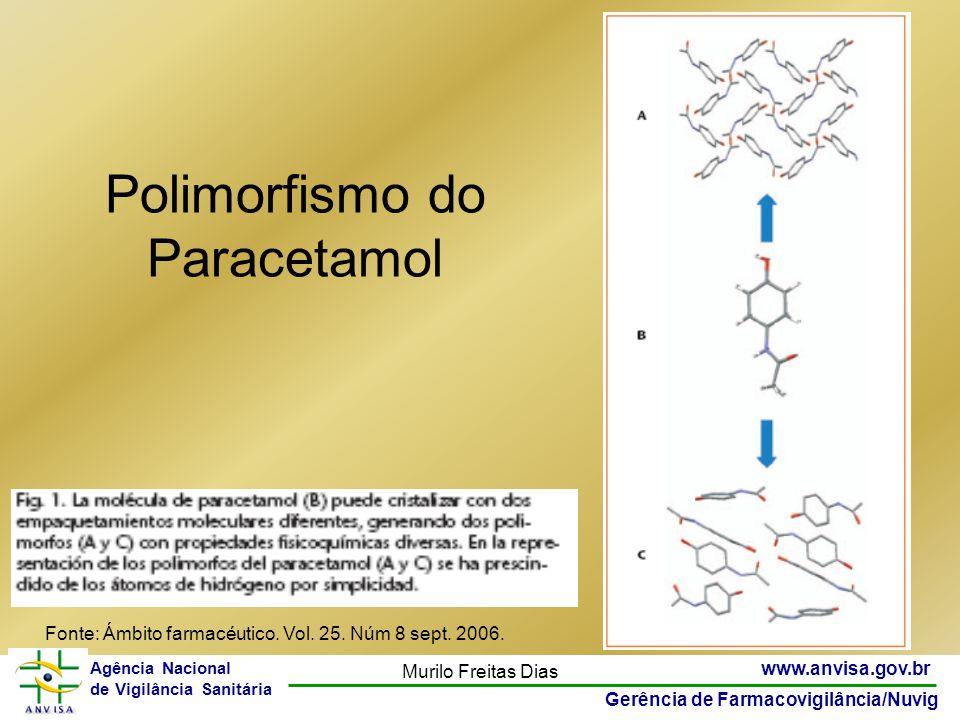 25 www.anvisa.gov.br Gerência de Farmacovigilância/Nuvig Agência Nacional de Vigilância Sanitária Murilo Freitas Dias Polimorfismo do Paracetamol Font