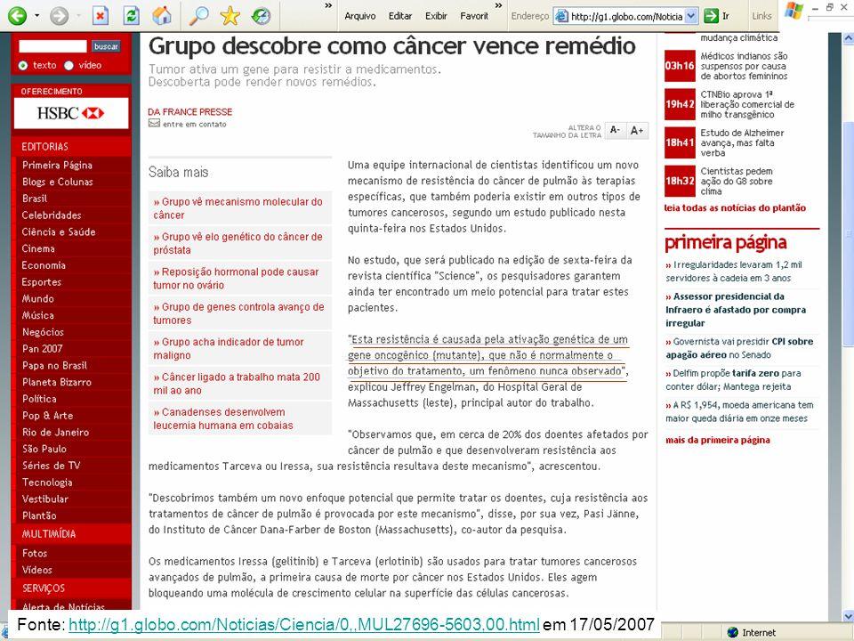 32 www.anvisa.gov.br Gerência de Farmacovigilância/Nuvig Agência Nacional de Vigilância Sanitária Fonte: http://g1.globo.com/Noticias/Ciencia/0,,MUL27
