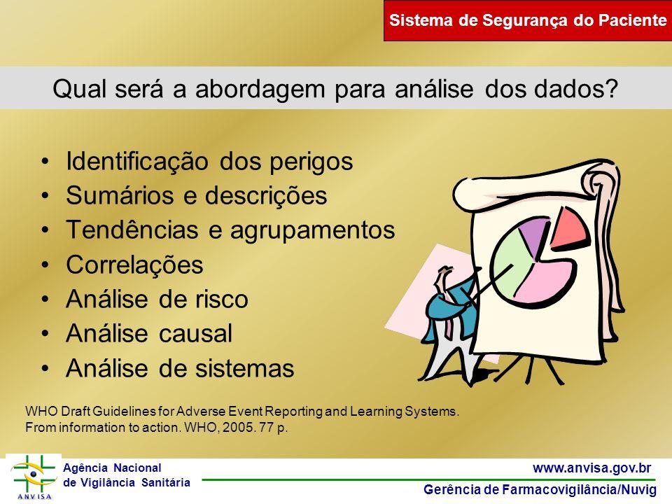 47 www.anvisa.gov.br Gerência de Farmacovigilância/Nuvig Agência Nacional de Vigilância Sanitária Qual será a abordagem para análise dos dados? Identi