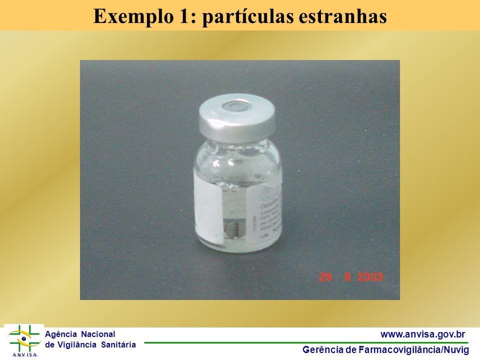 38 www.anvisa.gov.br Gerência de Farmacovigilância/Nuvig Agência Nacional de Vigilância Sanitária Os 10 mais erros de medicação segundo a USP 2007 para atendimento hospitalar Insulina (4% todos em 2005); Morfina (2,3%); Cloreto de Potássio (2,2%); Albuterol (1,8%); Heparina (1,7%); Vancomicina (1,6%); Cefazolina (1,6%); Paracetamol (1,6%); Varfarin (1,4%) e Furosemida (1,4%).