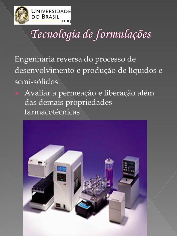 Engenharia reversa do processo de desenvolvimento e produção de líquidos e semi-sólidos: Avaliar a permeação e liberação além das demais propriedades