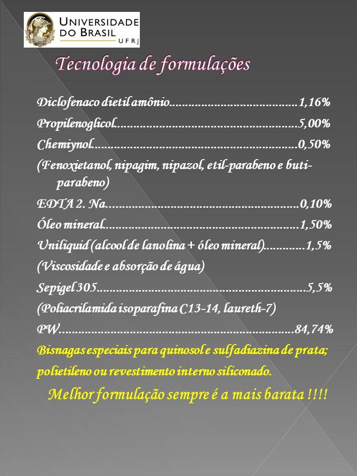 Diclofenaco dietil amônio........................................1,16% Propilenoglicol.........................................................5,00% C