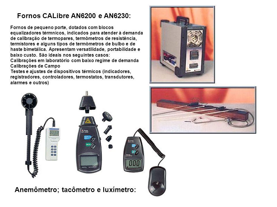Fornos CALibre AN6200 e AN6230: Fornos de pequeno porte, dotados com blocos equalizadores térmnicos, indicados para atender à demanda de calibração de