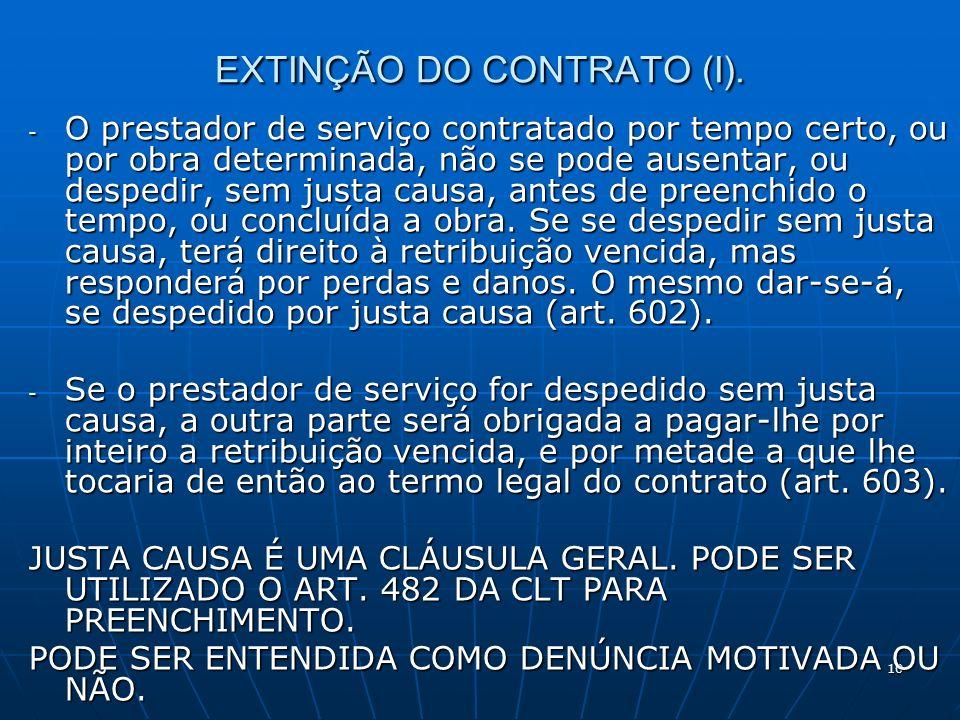 10 EXTINÇÃO DO CONTRATO (I).