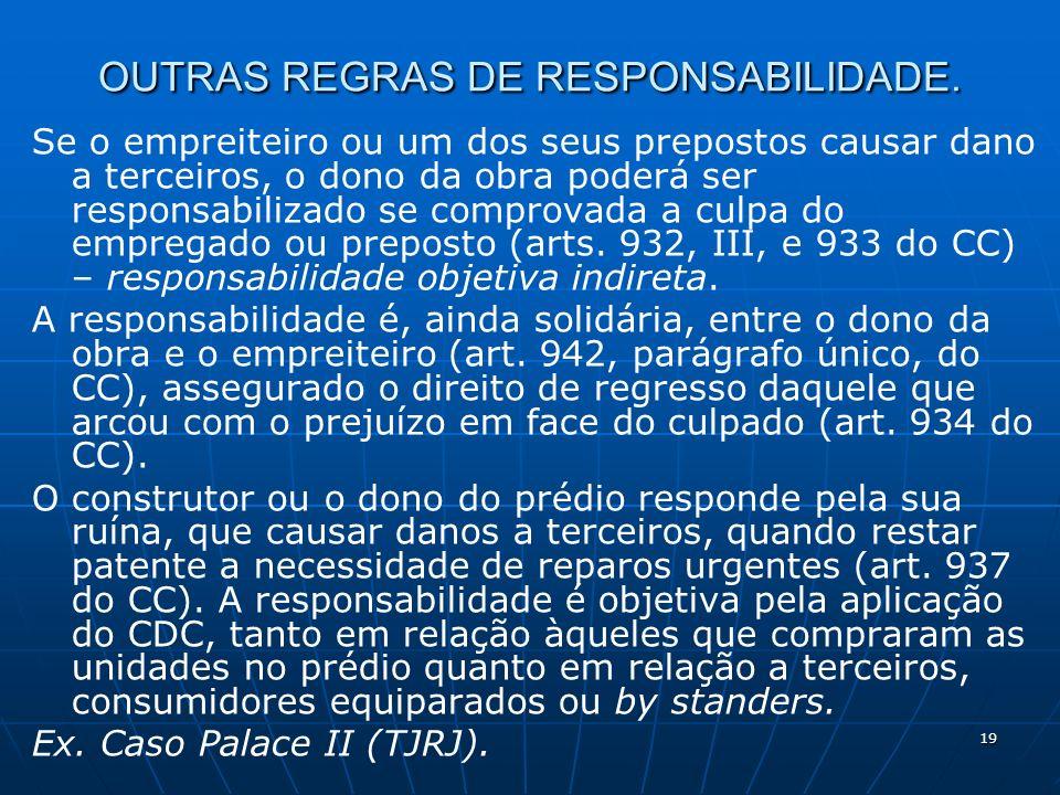 19 OUTRAS REGRAS DE RESPONSABILIDADE.