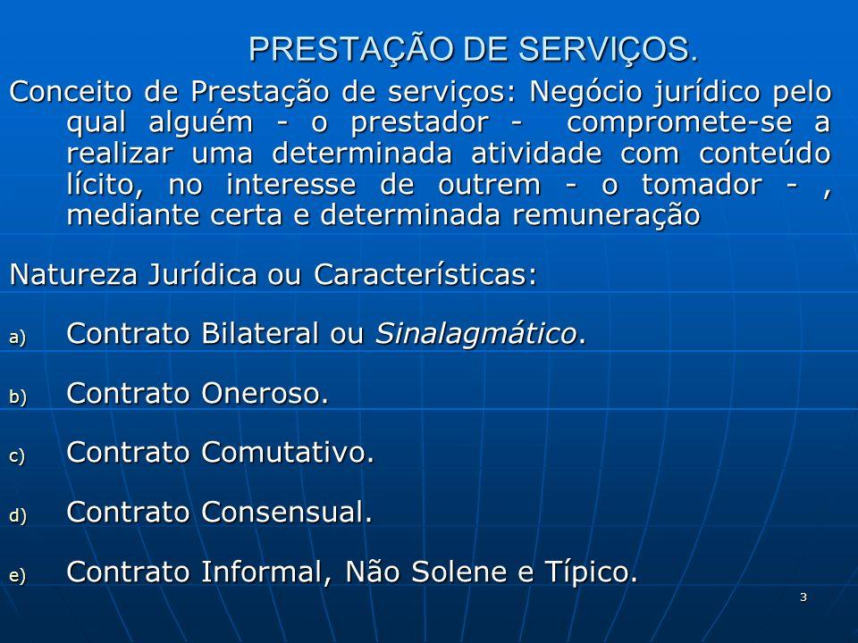 3 PRESTAÇÃO DE SERVIÇOS.