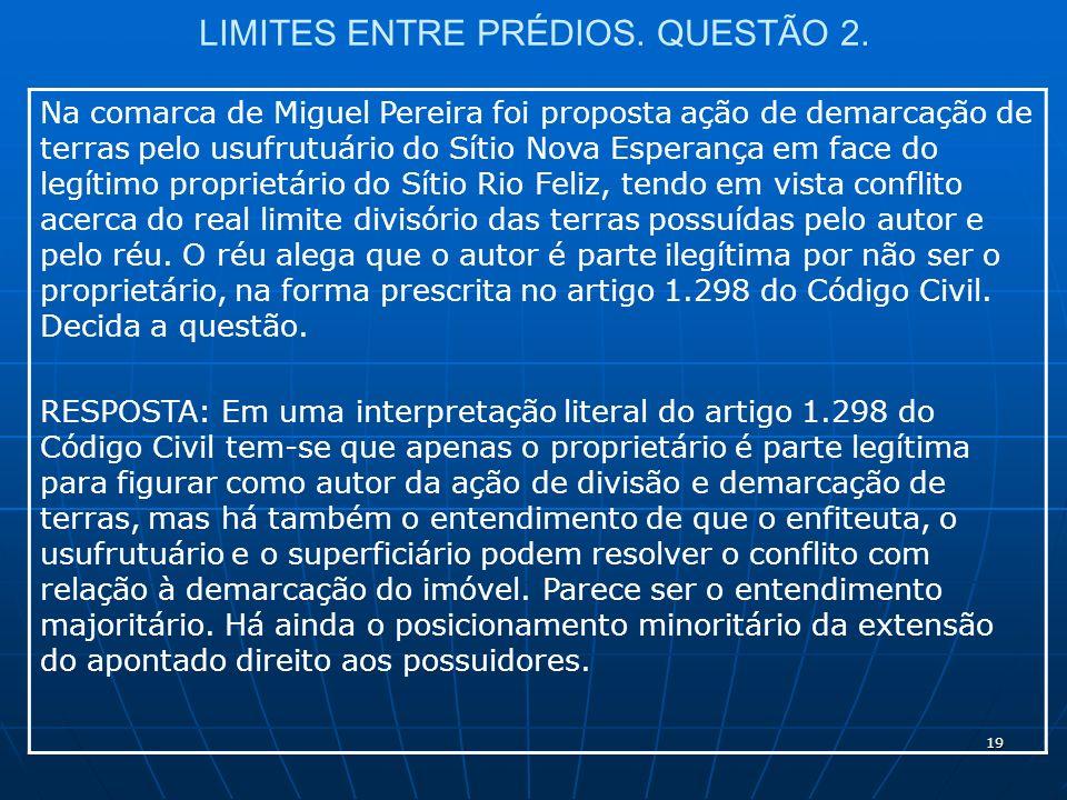 19 LIMITES ENTRE PRÉDIOS. QUESTÃO 2.