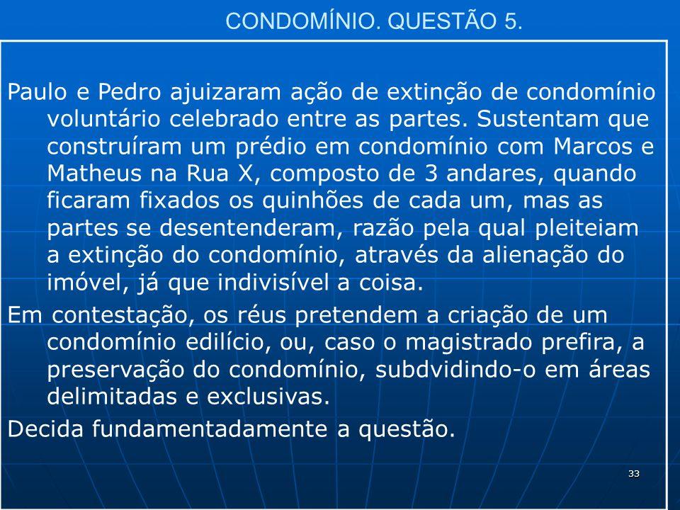 33 CONDOMÍNIO. QUESTÃO 5.