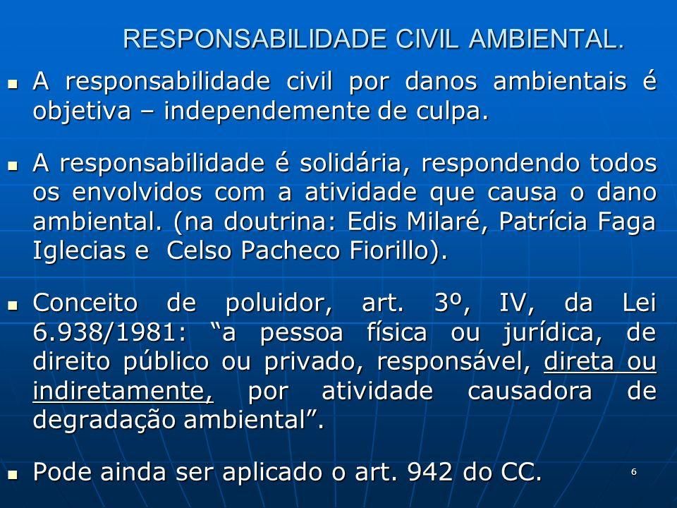 6 RESPONSABILIDADE CIVIL AMBIENTAL.