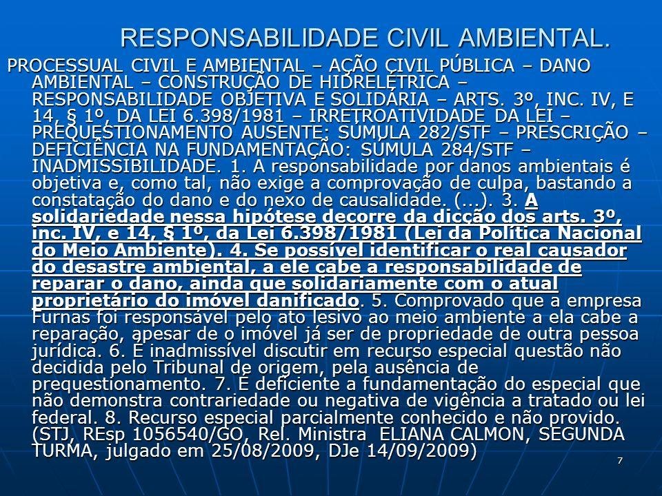 7 RESPONSABILIDADE CIVIL AMBIENTAL.