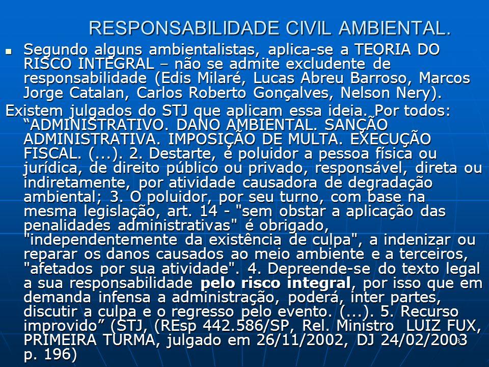 8 RESPONSABILIDADE CIVIL AMBIENTAL.