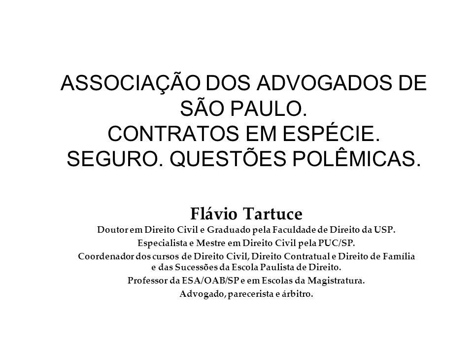 ASSOCIAÇÃO DOS ADVOGADOS DE SÃO PAULO. CONTRATOS EM ESPÉCIE.