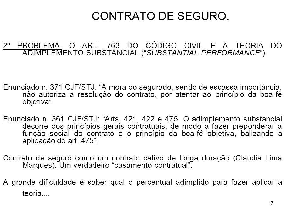 7 CONTRATO DE SEGURO. 2º PROBLEMA. O ART.