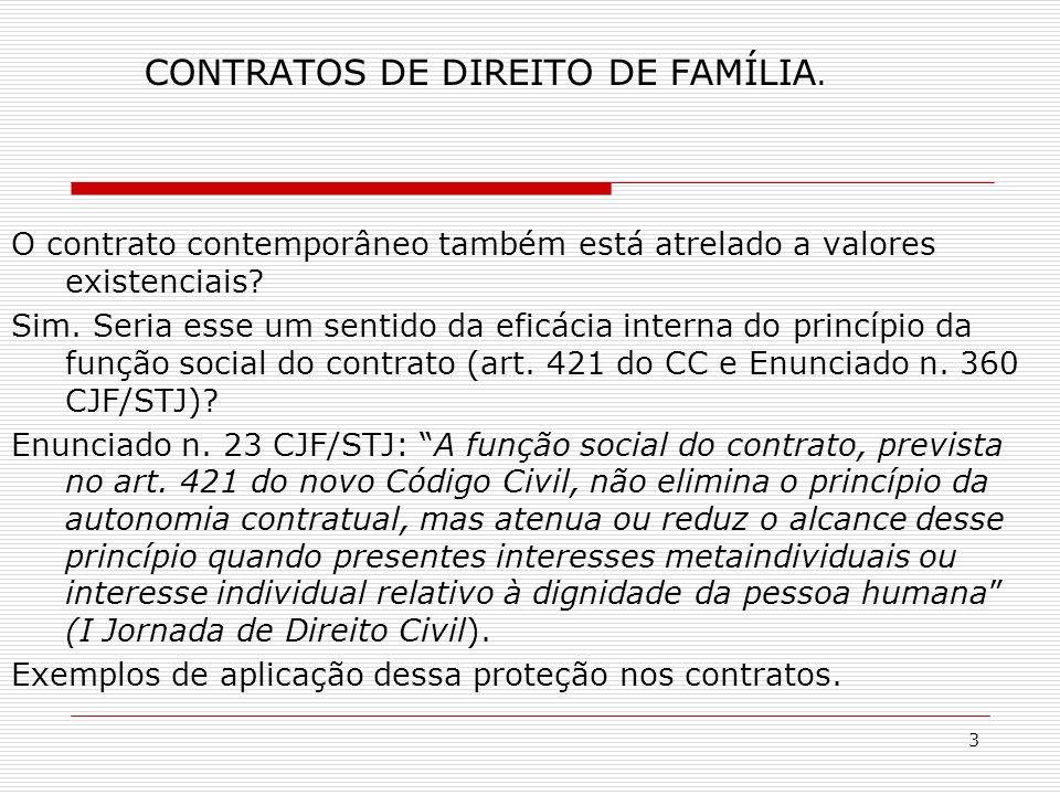 3 CONTRATOS DE DIREITO DE FAMÍLIA.