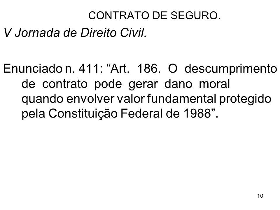 10 CONTRATO DE SEGURO.V Jornada de Direito Civil.