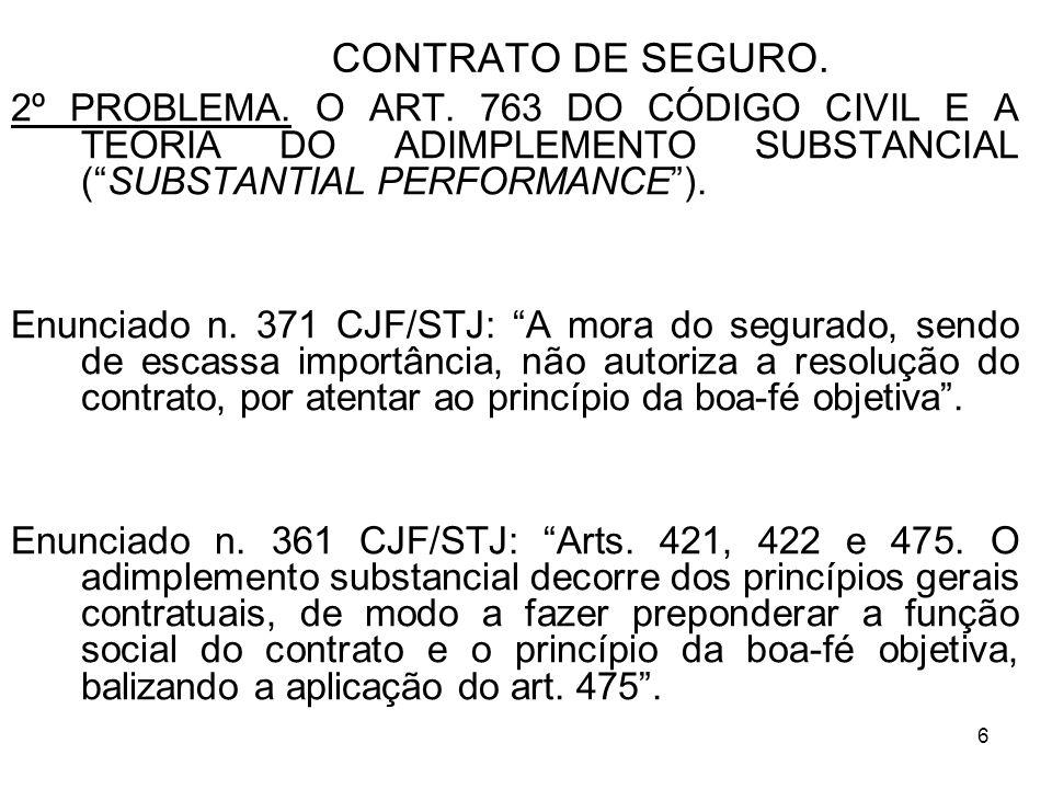 6 CONTRATO DE SEGURO.2º PROBLEMA. O ART.