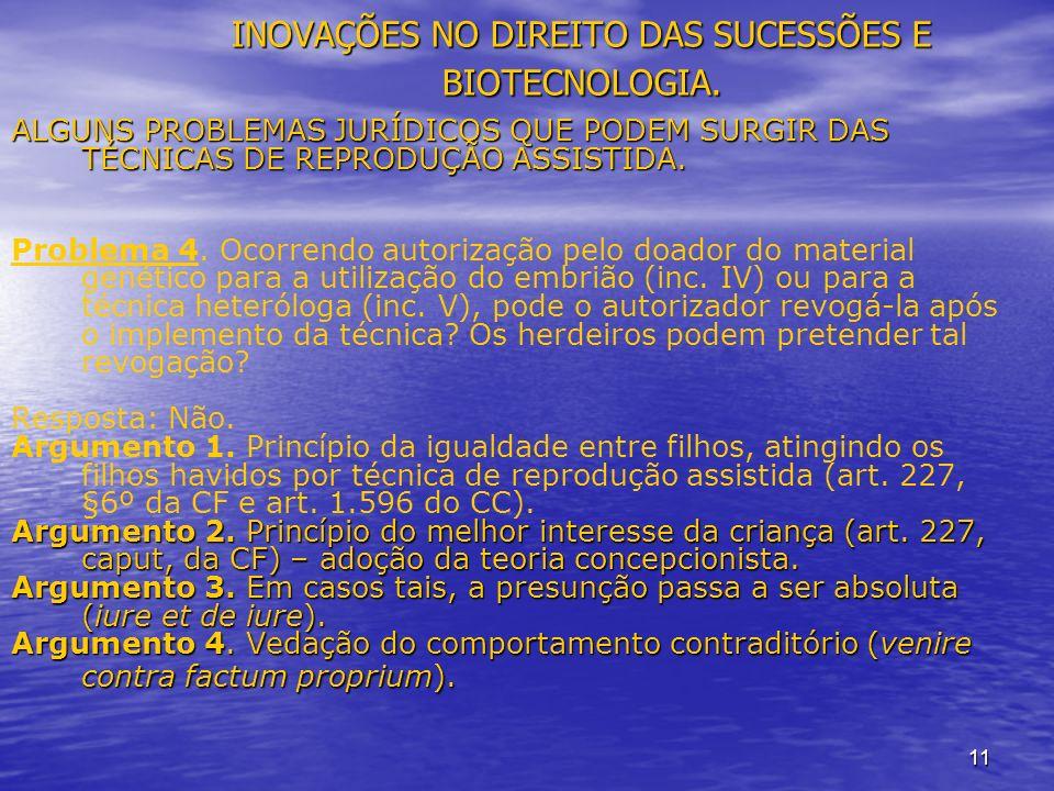 11 INOVAÇÕES NO DIREITO DAS SUCESSÕES E BIOTECNOLOGIA.